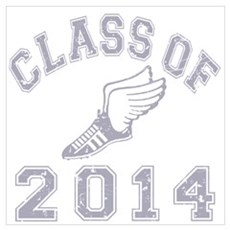 Class Of 2014 Track & Field Wall Art Poster