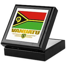 """""""Vanuatu Flag"""" Keepsake Box"""