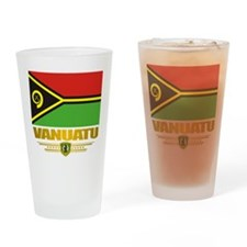 """Vanuatu Flag"" Drinking Glass"