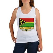 """""""Vanuatu Flag"""" Women's Tank Top"""