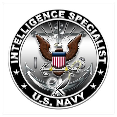 USN Intelligence Specialist E Wall Art Canvas Art