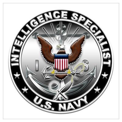 USN Intelligence Specialist E Wall Art Poster