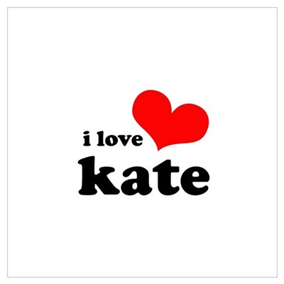 I Love Kate Wall Art Poster
