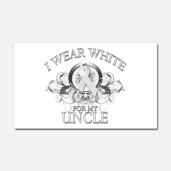 I Wear White for my Uncle (fl Car Magnet 20 x 12