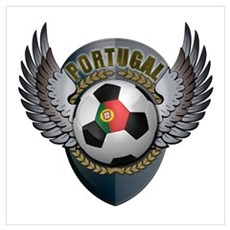 Portuguese soccer ball with crest Wall Art Poster
