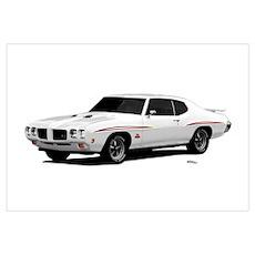 1970 GTO Judge Polar White Wall Art Poster