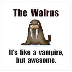 Walrus Vampire Wall Art Poster