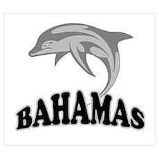 Bahamas Dolphin Souvenir Wall Art Poster