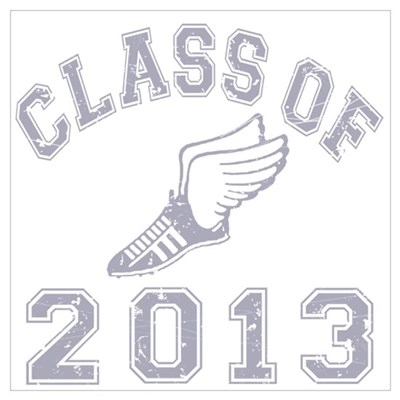Class Of 2013 Track & Field Wall Art Poster