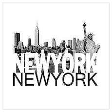 New York Skyline Wall Art Poster