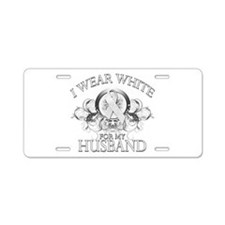 I Wear White for my Husband ( Aluminum License Pla