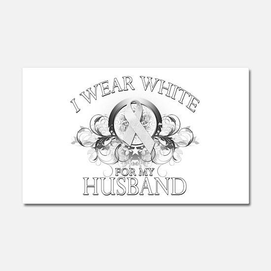I Wear White for my Husband ( Car Magnet 20 x 12