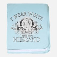 I Wear White for my Husband ( baby blanket
