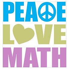 Peace Love Math Wall Art Poster