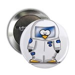 Astronaut Penguin Button