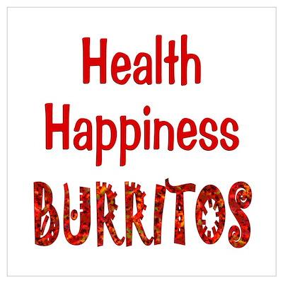 Burrito Happiness Wall Art Poster