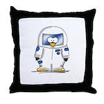 Astronaut Penguin Throw Pillow