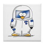 Astronaut Penguin Tile Coaster