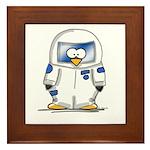 Astronaut Penguin Framed Tile