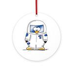 Astronaut Penguin Ornament (Round)