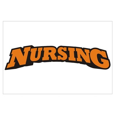 Nursing (Orange) Wall Art Poster