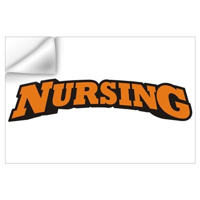 Nursing (Orange) Wall Art Wall Decal