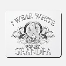 I Wear White for my Grandpa ( Mousepad