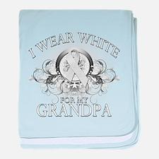 I Wear White for my Grandpa ( baby blanket