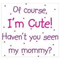 Cute Like Mommy Wall Art Framed Print
