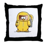 BioHazard Penguin Throw Pillow