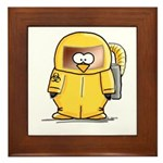 BioHazard Penguin Framed Tile
