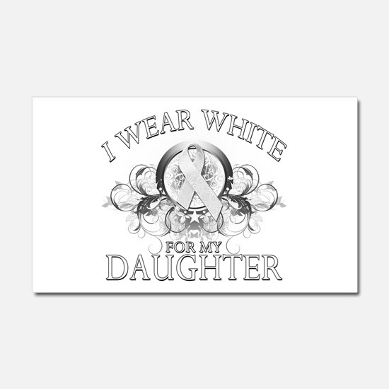 I Wear White for my Daughter Car Magnet 20 x 12