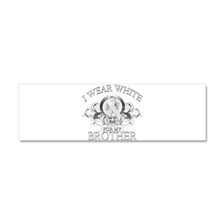 I Wear White for my Brother ( Car Magnet 10 x 3