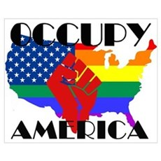 Occupy America LGBTQ Wall Art Poster