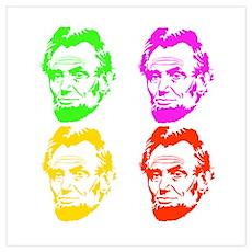 Lincoln Warhol Wall Art Poster