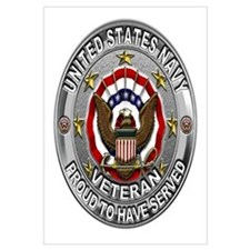 USN Navy Veteran Proud Eagle Wall Art