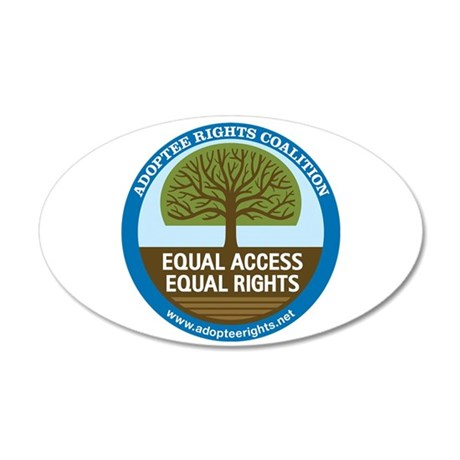 Adoptee Rights Coalition 22x14 Oval Wall Peel