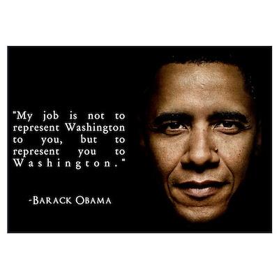 Representation, Obama Quote Wall Art Poster