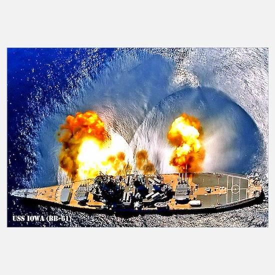 USS IOWA Wall Art