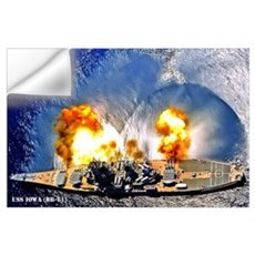 USS IOWA Wall Art Wall Decal