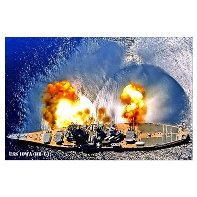 USS IOWA Wall Art Poster