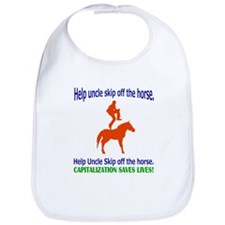Help Uncle Skip Off The Horse Bib