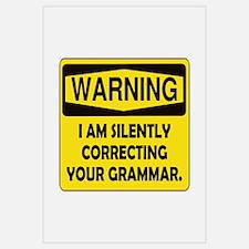 Warning Grammar Wall Art