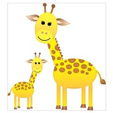 Little & Big Giraffes Wall Art Poster