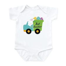 1st Easter Bunny Egg Truck Infant Bodysuit