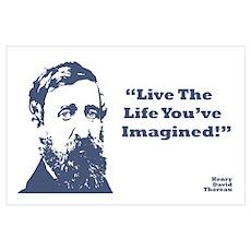 Thoreau - Life Wall Art Poster
