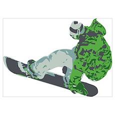 Snowboarding Wall Art Poster