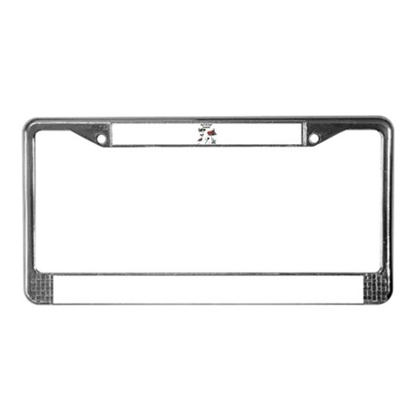 Gardening License Plate Frame