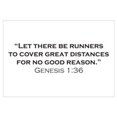 Runner / Genesis Wall Art Framed Print