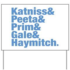 Hunger Games Names Yard Sign